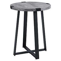 Forest Gate™ Sage Industrial Modern Round Side Table in Dark Concrete