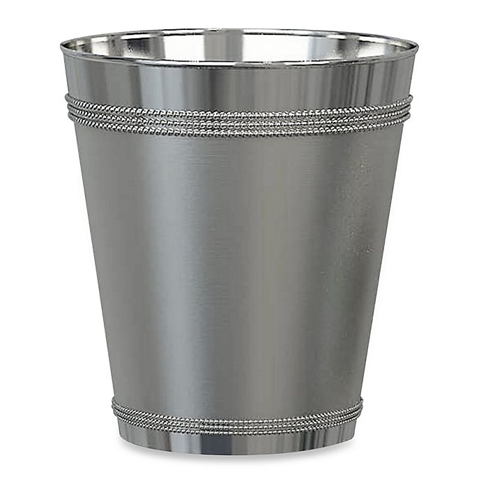 Alternate image 1 for Beaded Metal Wastebasket in Stainless Steel