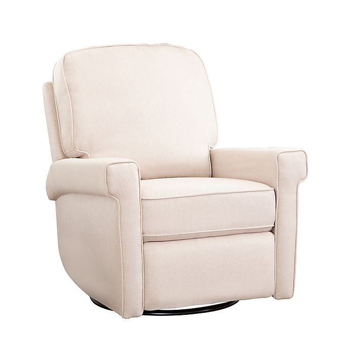 Prime Abbyson Living Kaden Swivel Rocker Recliner In Cream Gmtry Best Dining Table And Chair Ideas Images Gmtryco