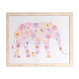 Marmalade™ Flower Pattern Elephant 16-Inch x 20-Inch Framed Canvas Wall Art