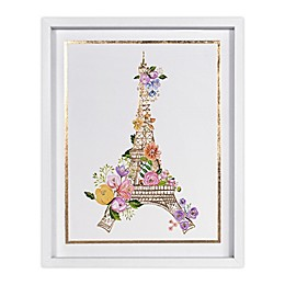 Marmalade™ Golden Eiffel Tower 16-Inch x 20-Inch Framed Canvas Wall Art
