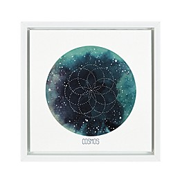 Marmalade™ Celestial Orb III 12-Inch Square Framed Canvas Wall Art in Gloss White