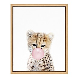 Marmalade™ Bubble Gum Cheetah 16-Inch x 20-Inch Framed Canvas Wall Art