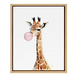 Marmalade™ Bubble Gum Giraffe 16-Inch x 20-Inch Framed Canvas Wall Art