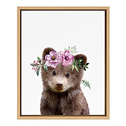 Marmalade™ Flower Crown Bear 16-Inch x 20-Inch Framed Canvas Wall Art