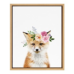 Marmalade™ Flower Crown Fox 16-Inch x 20-Inch Framed Canvas Wall Art