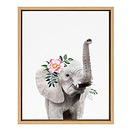 Marmalade™ Flower Crown Elephant 16-Inch x 20-Inch Framed Canvas Wall Art