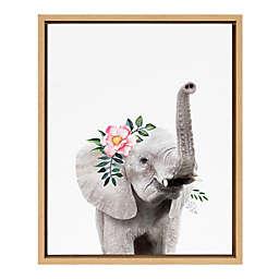 Marmalade™ Flower Crown Elephant 16-Inch x 20-Inch Framed Canvas Wall Art