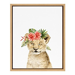 Marmalade™ Flower Crown Lion 16-Inch x 20-Inch Framed Canvas Wall Art