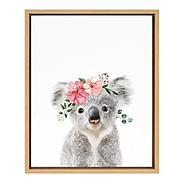 Marmalade™ Flower Crown Koala 16-Inch x 20-Inch Framed Canvas Wall Art