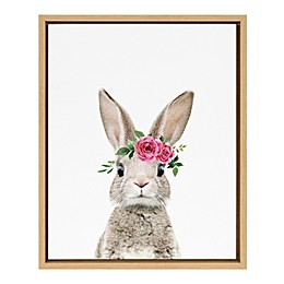 Marmalade™ Flower Crown Bunny 16-Inch x 20-Inch Framed Canvas Wall Art