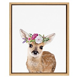 Marmalade™ Flower Crown Fawn 16-Inch x 20-Inch Framed Canvas Wall Art