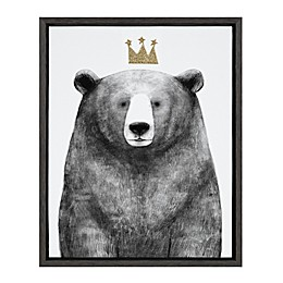Marmalade™ Royal Forester Bear 16-Inch x 20-Inch Framed Canvas Wall Art in Dark Grey