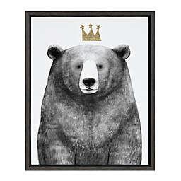 Marmalade™ Royal Forester Bear 16-Inch x 20-Inch Framed Canvas Wall Art in Dark Grey