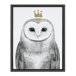 Marmalade™ Royal Forester Owl 16-Inch x 20-Inch Framed Canvas Wall Art in Dark Grey