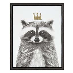 Marmalade™ Royal Forester Raccoon 16-Inch x 20-Inch Framed Canvas Wall Art in Dark Grey