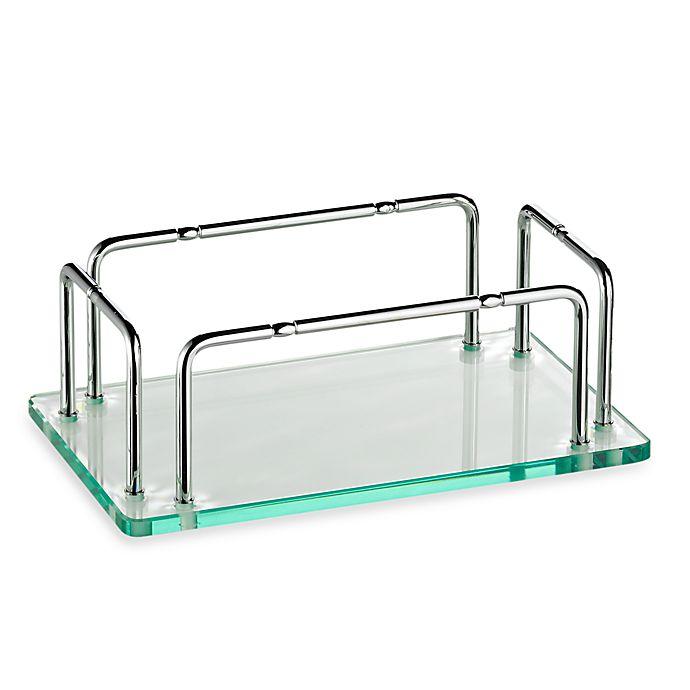 Alternate image 1 for Taymor® Glass Hand Towel Tray With Rails