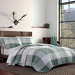 Eddie Bauer® Boulder Reversible Full/Queen Quilt Set in Evergreen
