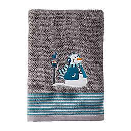 Snow Buddies Bath Towel in Grey