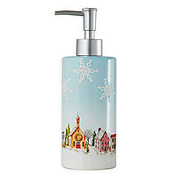 Hometown Holiday Lotion Dispenser in Light Blue