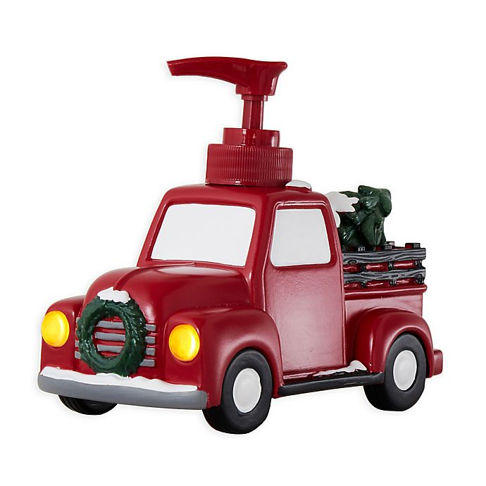 Alternate image 1 for Holiday Trucks Lotion Dispenser in Red