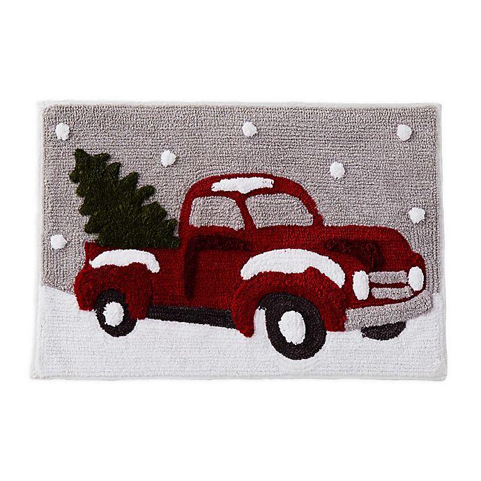 Alternate image 1 for Holiday Trucks Seasonal Bath Rug Collection