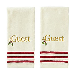 Saturday Knight Holly Guest Hand Towels (Set of 2)