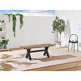 OVE Decors Bali Faux Wood Outdoor Bench