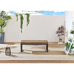 OVE Decors Clay Faux Wood Outdoor Bench from OVE Decors