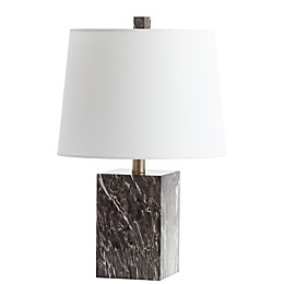 Safavieh Brett LED Table Lamp in Brown with Cotton Shade