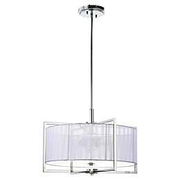 Safavieh Milano 3-Light LED Downrod Mount Pendant Light in Chrome