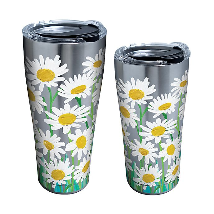 Alternate image 1 for Tervis® Painted White Daisies Stainless Steel Tumbler with Lid
