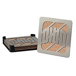 University of Ohio 4-Piece Boaster Coasters Set