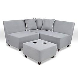 Tween 6-Piece Sectional Set in Merino Grey