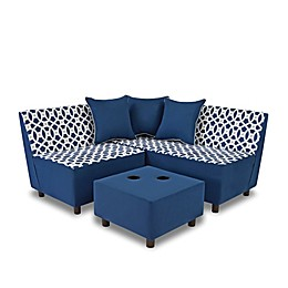 Tween 6-Piece Sectional Set in Loopy Navy