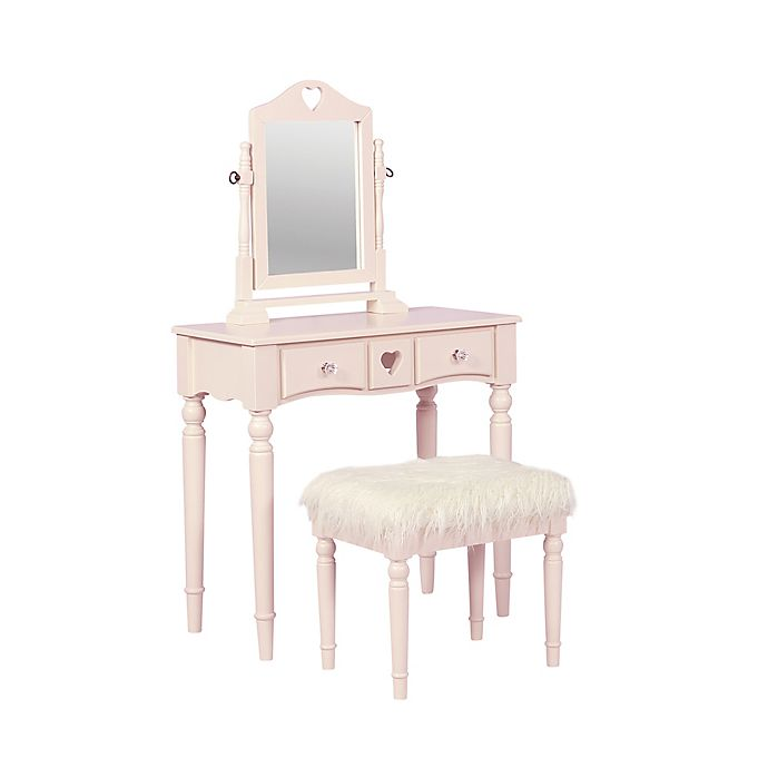 Linon Home Décor Sammie 2-Piece Vanity Set In Pink