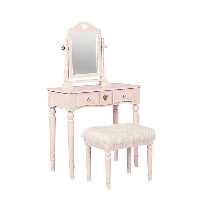 Linon Vanity Set: Linon Home Décor Sammie 2-Piece Vanity Set In Pink