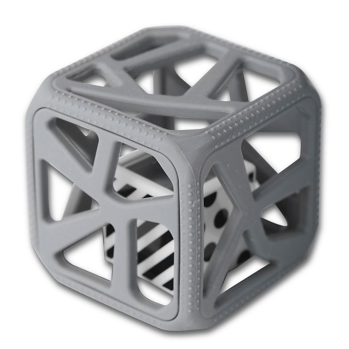 Alternate image 1 for Munch Baby Malarkey Kids Chew Cube in Grey