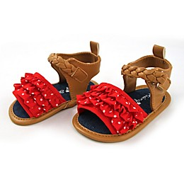 Rising Star™ Ruffle Sandal in Red