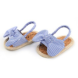 Rising Star™ Striped Bow Sandal in Blue