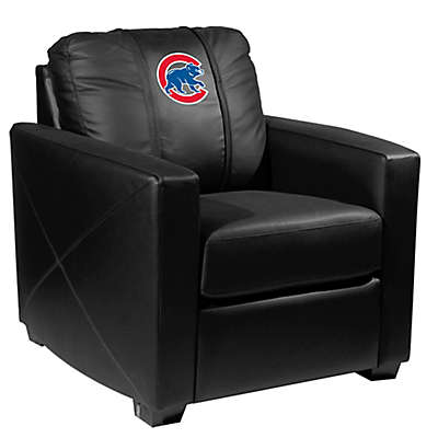 MLB Chicago Cubs Silver Club Chair with Alternate Logo