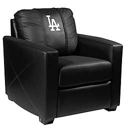 MLB Los Angeles Dodgers Silver Club Chair with Alternate Logo