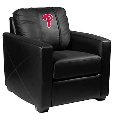 MLB Philadelphia Phillies Silver Club Chair with Alternate Logo