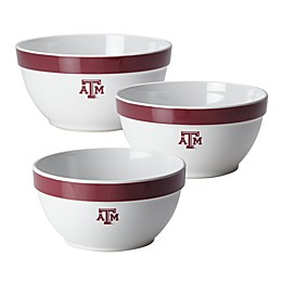 Texas A&M University 3-Piece Party Bowl Set