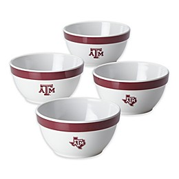 Texas A&M University 4-Piece Party Bowl Set