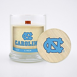 University of North Carolina 8 oz. Linen Candle with Wood Lid