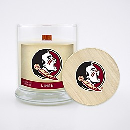 Florida State University 8 oz. Linen Candle with Wood Lid