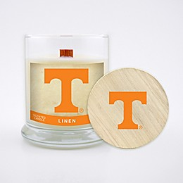 University of Tennessee 8 oz. Linen Candle with Wood Lid