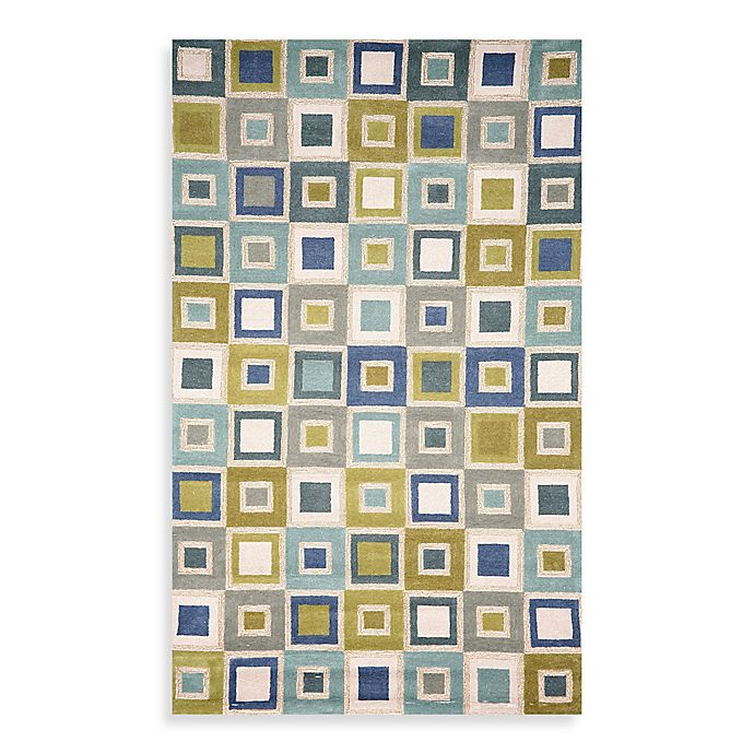 Alternate image 1 for Trans-Ocean Big Squares 3-Foot 6-Inch x 5-Foot 6-Inch Indoor/Outdoor Rug