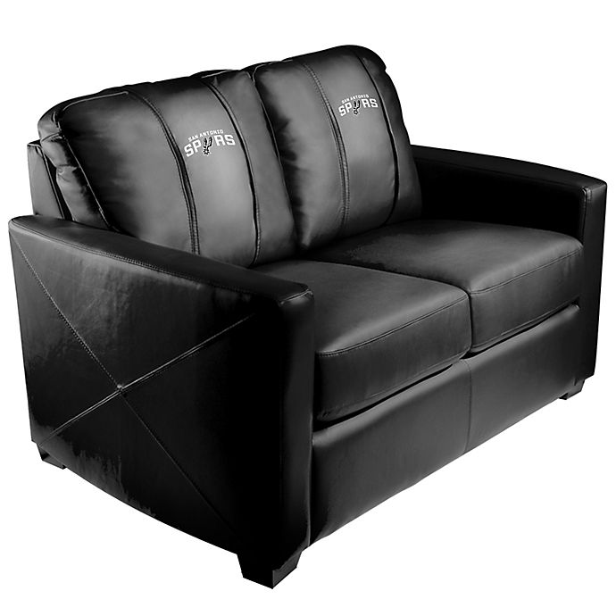 Fabulous Nba San Antonio Spurs Silver Loveseat Bed Bath Beyond Onthecornerstone Fun Painted Chair Ideas Images Onthecornerstoneorg